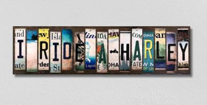 I Ride A Harley Wholesale Novelty License Plate Strips Wood Sign WS-498
