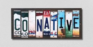 CO Native Wholesale Novelty License Plate Strips Wood Sign