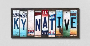 KY Native Wholesale Novelty License Plate Strips Wood Sign