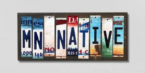 MN Native Wholesale Novelty License Plate Strips Wood Sign