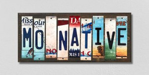MO Native Wholesale Novelty License Plate Strips Wood Sign