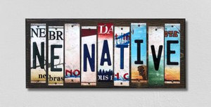 NE Native Wholesale Novelty License Plate Strips Wood Sign