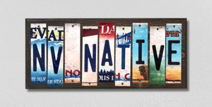 NV Native Wholesale Novelty License Plate Strips Wood Sign