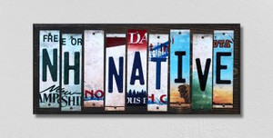 NH Native Wholesale Novelty License Plate Strips Wood Sign