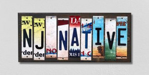 NJ Native Wholesale Novelty License Plate Strips Wood Sign