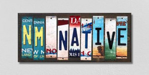 NM Native Wholesale Novelty License Plate Strips Wood Sign