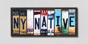 NY Native Wholesale Novelty License Plate Strips Wood Sign