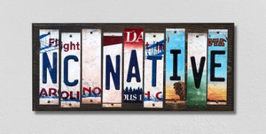 NC Native Wholesale Novelty License Plate Strips Wood Sign