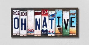 OH Native Wholesale Novelty License Plate Strips Wood Sign