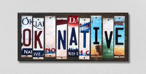 OK Native Wholesale Novelty License Plate Strips Wood Sign