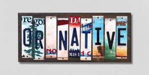 OR Native Wholesale Novelty License Plate Strips Wood Sign