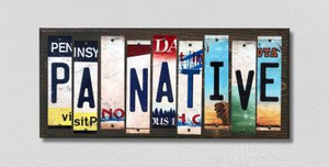 PA Native Wholesale Novelty License Plate Strips Wood Sign
