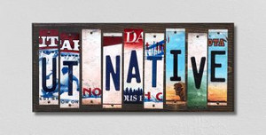 UT Native Wholesale Novelty License Plate Strips Wood Sign