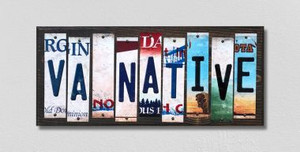 VA Native Wholesale Novelty License Plate Strips Wood Sign