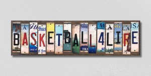 Basketball For Life Wholesale Novelty License Plate Strips Wood Sign