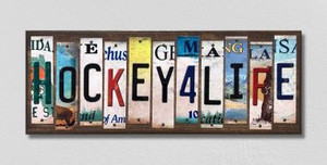 Hockey For Life Wholesale Novelty License Plate Strips Wood Sign