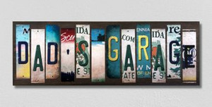 Dads Garage Wholesale Novelty License Plate Strips Wood Sign WS-591