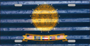 Georgia Corrugated Flag Wholesale Novelty License Plate LP-11951