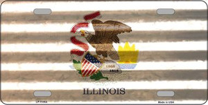 Illinois Corrugated Flag Wholesale Novelty License Plate LP-11954