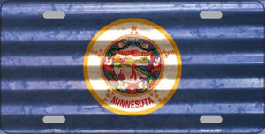 Minnesota Corrugated Flag Wholesale Novelty License Plate LP-11964