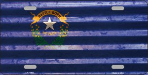 Nevada Corrugated Flag Wholesale Novelty License Plate LP-11969