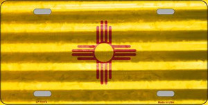 New Mexico Corrugated Flag Wholesale Novelty License Plate LP-11972