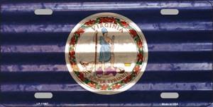 Virginia Corrugated Flag Wholesale Novelty License Plate LP-11987