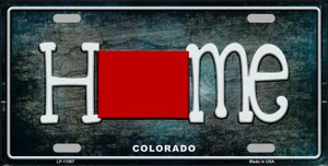 Colorado Home State Outline Wholesale Novelty License Plate LP-11997