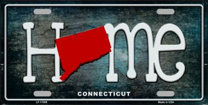 Connecticut Home State Outline Wholesale Novelty License Plate LP-11998