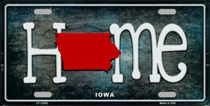 Iowa Home State Outline Wholesale Novelty License Plate LP-12006