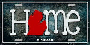 Michigan Home State Outline Wholesale Novelty License Plate LP-12013