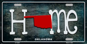 Oklahoma Home State Outline Wholesale Novelty License Plate LP-12027