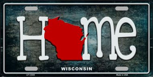 Wisconsin Home State Outline Wholesale Novelty License Plate LP-12040