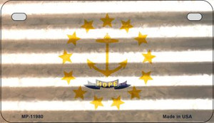 Rhode Island Corrugated Flag Wholesale Novelty Motorcycle Plate MP-11980