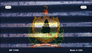 Vermont Corrugated Flag Wholesale Novelty Motorcycle Plate MP-11986