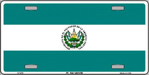 El Salvador Flag Wholesale Metal Novelty License Plate LP-478