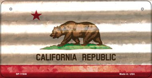 California Corrugated Flag Wholesale Novelty Bicycle Plate BP-11946