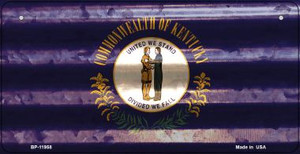 Kentucky Corrugated Flag Wholesale Novelty Bicycle Plate BP-11958