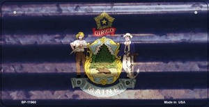 Maine Corrugated Flag Wholesale Novelty Bicycle Plate BP-11960