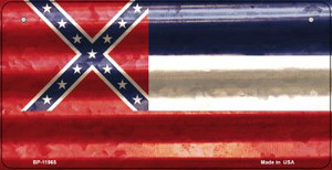 Mississippi Corrugated Flag Wholesale Novelty Bicycle Plate BP-11965