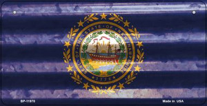 New Hampshire Corrugated Flag Wholesale Novelty Bicycle Plate BP-11970