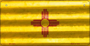 New Mexico Corrugated Flag Wholesale Novelty Bicycle Plate BP-11972