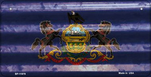 Pennsylvania Corrugated Flag Wholesale Novelty Bicycle Plate BP-11979