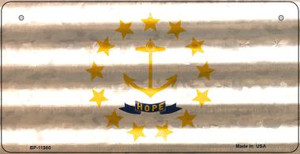 Rhode Island Corrugated Flag Wholesale Novelty Bicycle Plate BP-11980