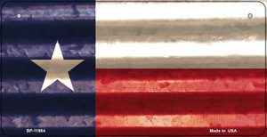 Texas Corrugated Flag Wholesale Novelty Bicycle Plate BP-11984