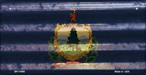 Vermont Corrugated Flag Wholesale Novelty Bicycle Plate BP-11986