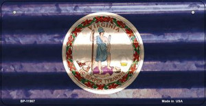 Virginia Corrugated Flag Wholesale Novelty Bicycle Plate BP-11987