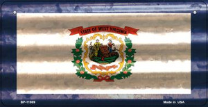 West Virginia Corrugated Flag Wholesale Novelty Bicycle Plate BP-11989