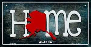 Alaska Home State Outline Wholesale Novelty Bicycle Plate BP-11993