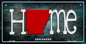 Arkansas Home State Outline Wholesale Novelty Bicycle Plate BP-11995
